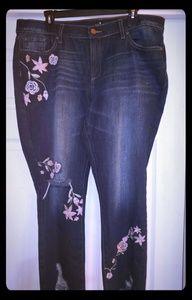 NWOT New York & Co  sz 16 Lmt Ed Destruction jeans